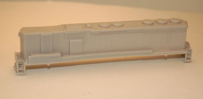 N Scale Trains, SD45 B Unit Locomotive Shell, by CMR Products