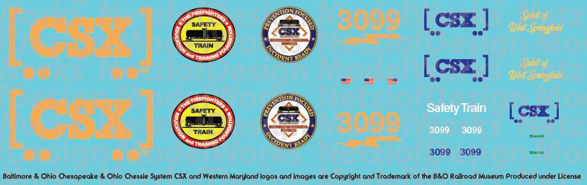CSX Safety Train Locomotive Decals