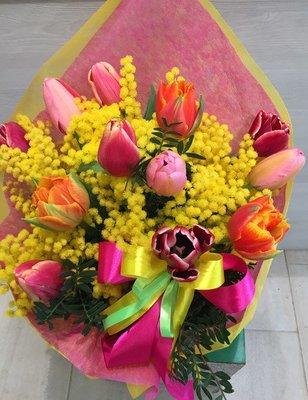 tulipani (pz.12) e mimosa