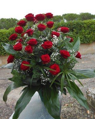 Mazzo Funebre Solo rose