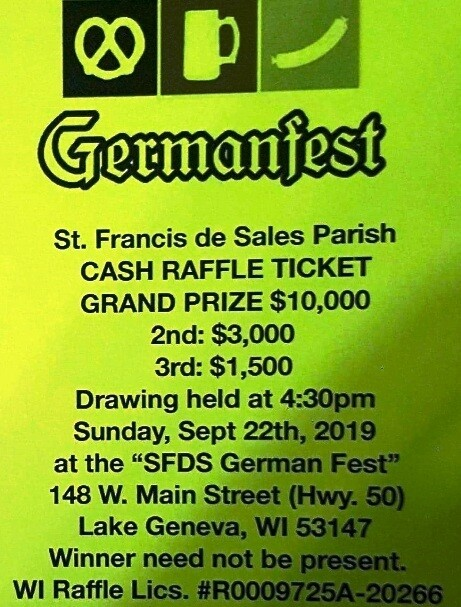 GERMANFEST RAFFLE TICKETS