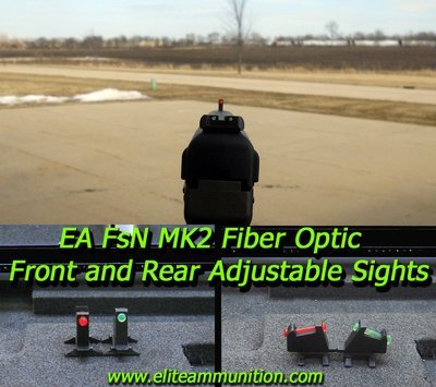 EA MarkII Fiber Optic Adjustable  Sights