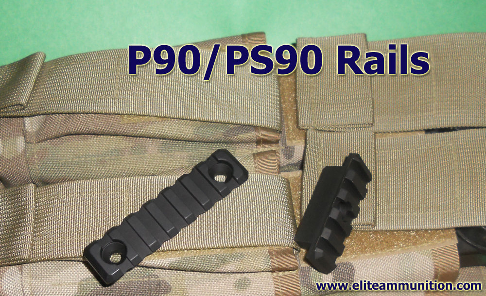 1913 Rail 5 and 7 Slot P90/PS90 Side Rails (Preorder)