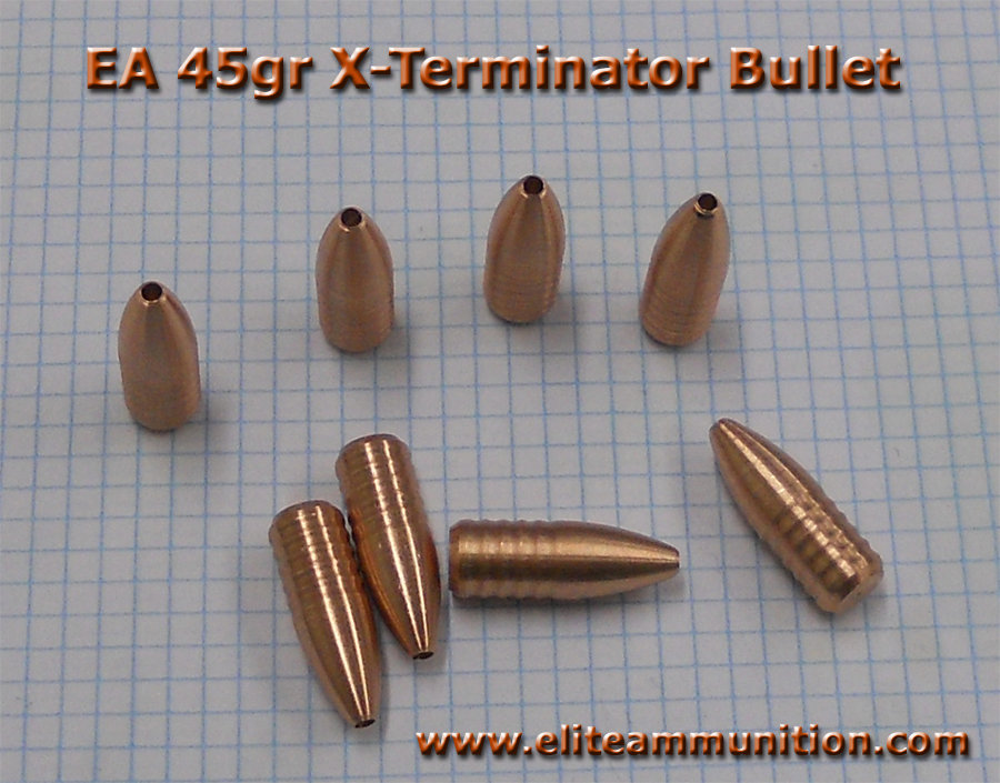 X-TerminaTOR Hunting Round Solid Copper Hollow Point