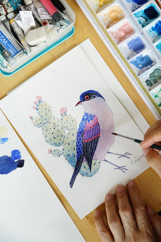 Beginners Watercolor Bird Illustration 17 November