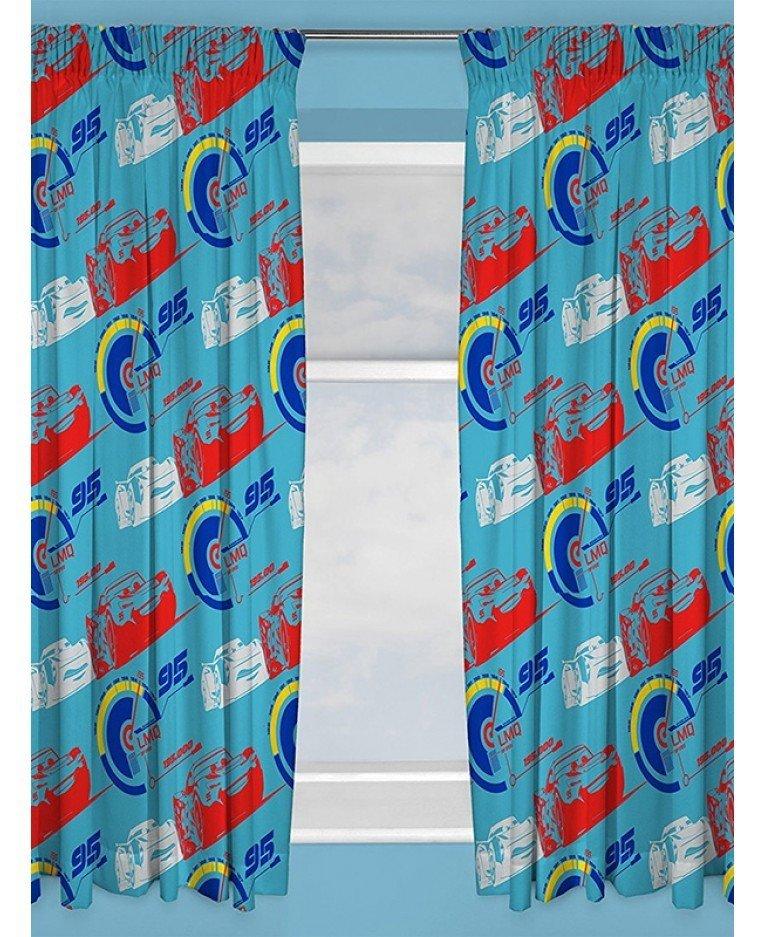 Cars 3 Lightning Pencil Pleat Curtains 66 x 54\' Drop