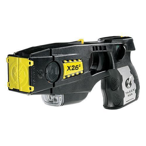 Taser X26C Kit Black w/Silver Grip Plates with Laser