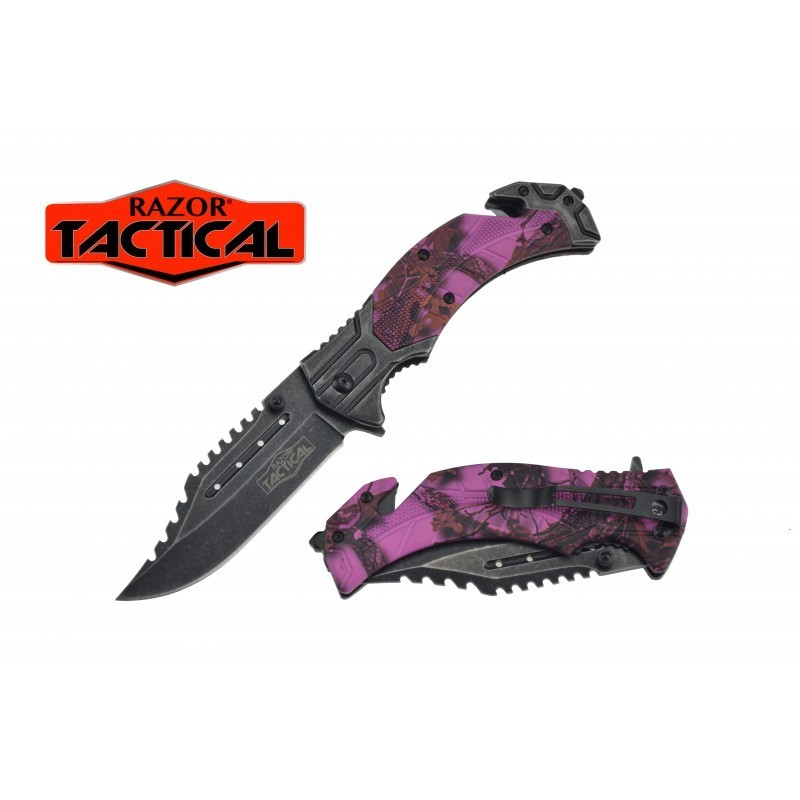 KNIFE W/ABS HANDLE, 4.5 CLOSED PINK