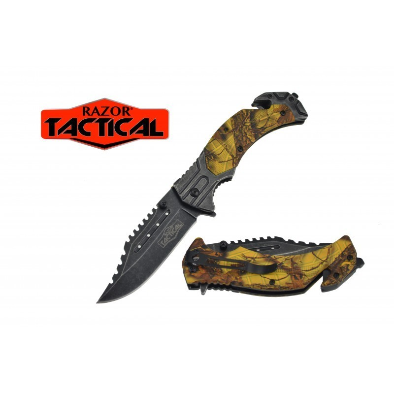KNIFE W/ABS HANDLE, 4.5 CLOSED YELLOW