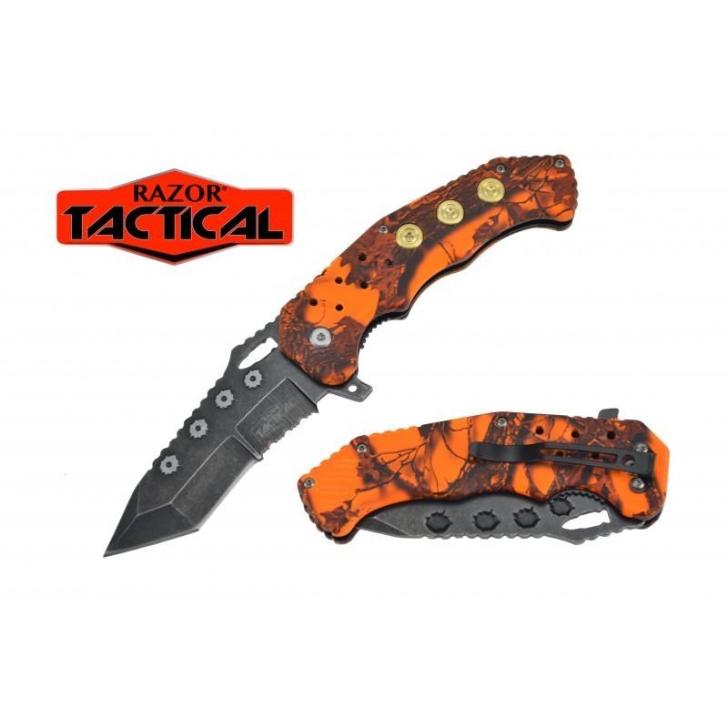 KNIFE W/ABS HANDLE, 4.5 CLOSED ORANGE