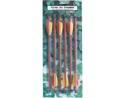 5 Pack 150 lb. Crossbow Arrows
