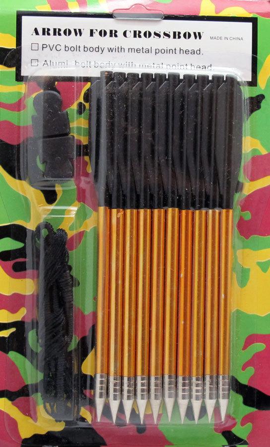 Pistol Crossbow Aluminum Arrows & String Combo Pack