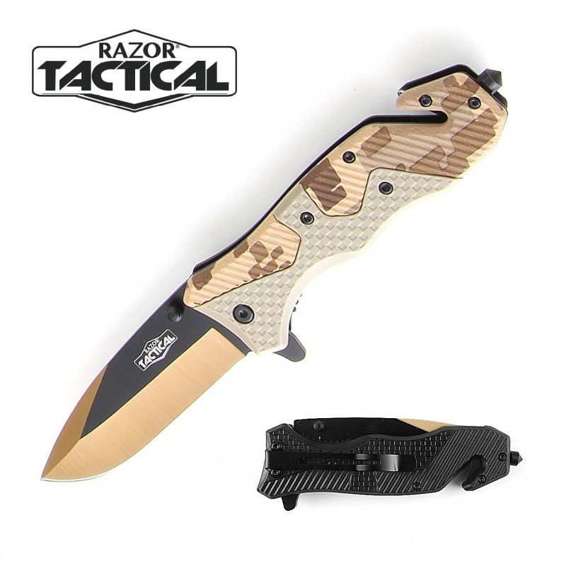 DIGITAL CAMO KNIFE W/ ABS HANDLE