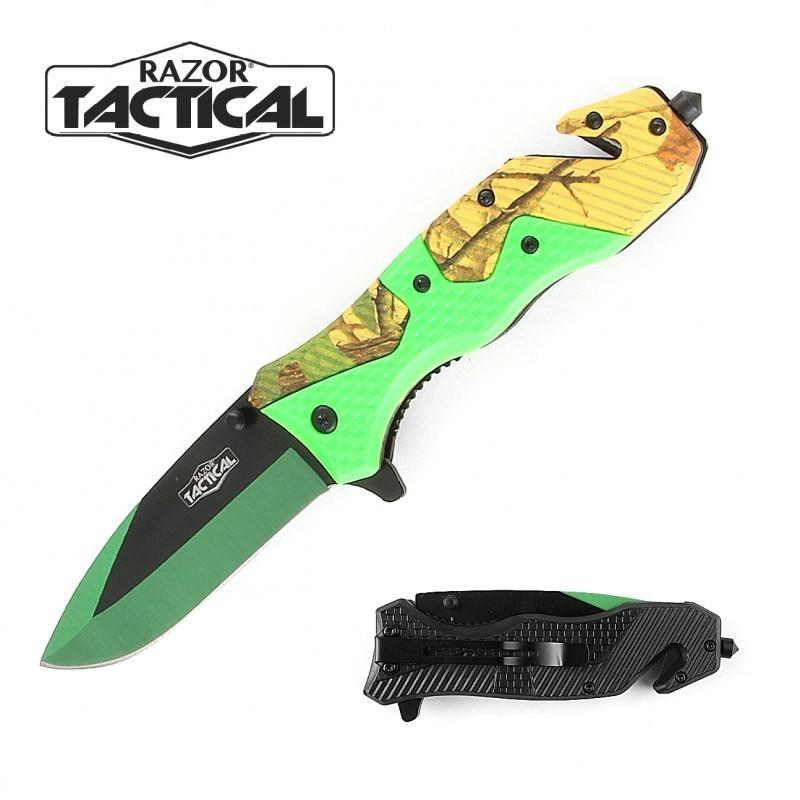 GREENLEAF CAMO KNIFE W/ ABS HANDLE