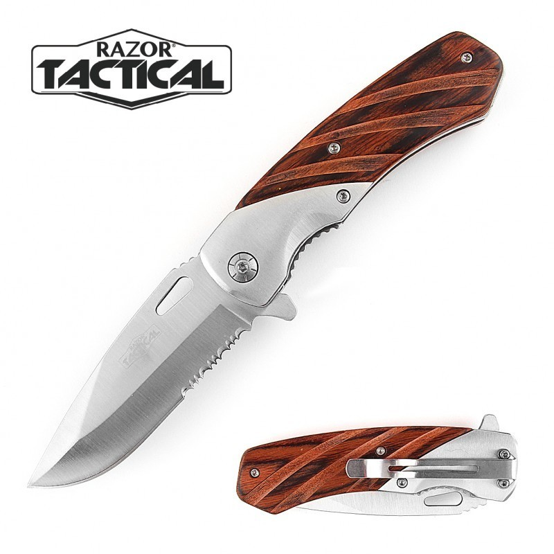 8.5 WOOD CLASSIC ASSISTED OPEN KNIFE
