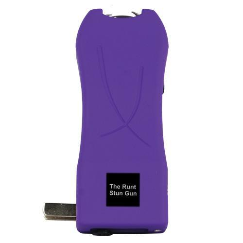 Runt 20,000,000 volt Purple stun gun with flashlight and wrist strap disable pin