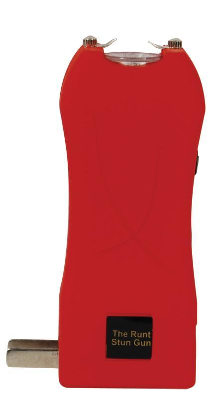 Runt 20,000,000 volt Red stun gun with flashlight and wrist strap disable pin