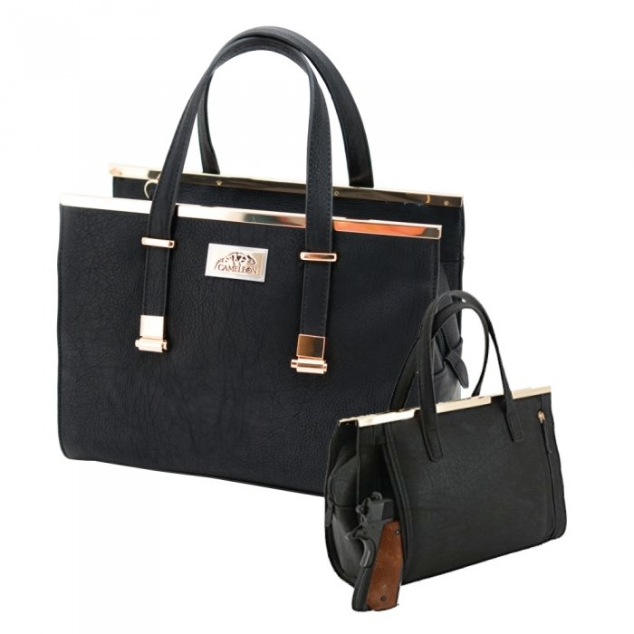 CORA CONCEALED CARRY PURSE: BLACK
