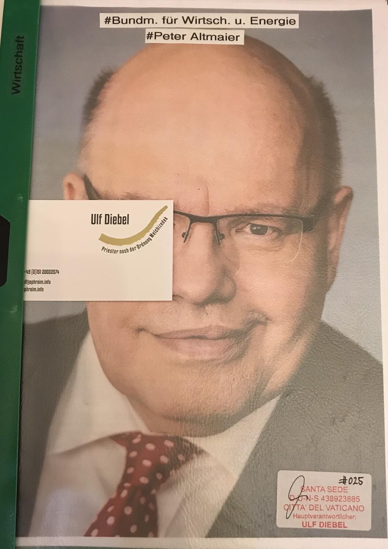 Bundesminister für Wirtschaft und Energie Peter Altmaier