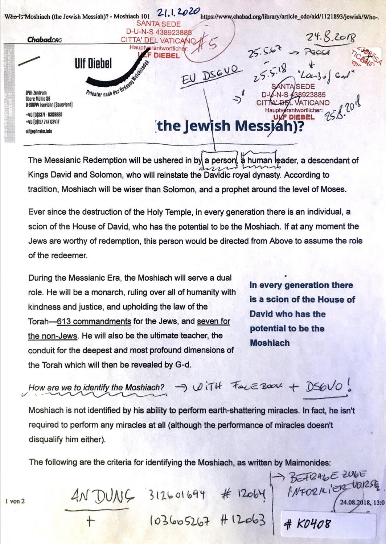 #K0408 l The Jewish Messiah? Chabad.org l Santa Seide - Hauptverantwortlicher Ulf Diebel