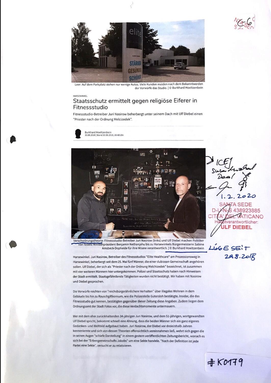 #K0179 l Harsewinkel - Staatsschutz ermittelt gegen religiöse Eiferer in Fitnessstudio