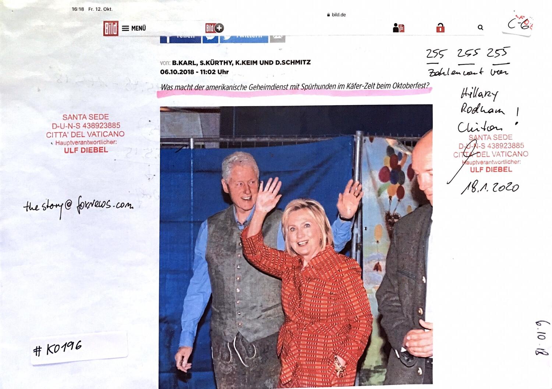 #K0196 l Bild - Rodham und Hillary Clinton beim Oktoberfest
