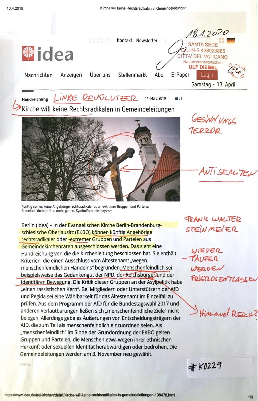 #K0229 l idea - Kirche will keine Rechtsradikalen in Gemeindeleitungen