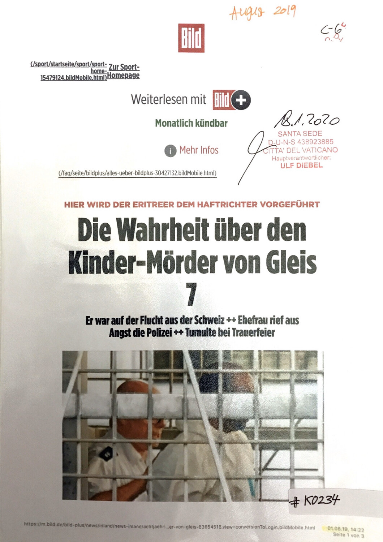 #K0234 l Bild - Die Wahrheit über den Kinder-Mörder von Gleis 7