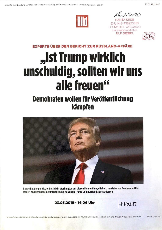 """#K0247 l Bild - """"Ist Trump wirklich unschuldig, sollten wir uns alle freuen"""" - Demokraten wollen für Veröffentlichung kämpfen"""