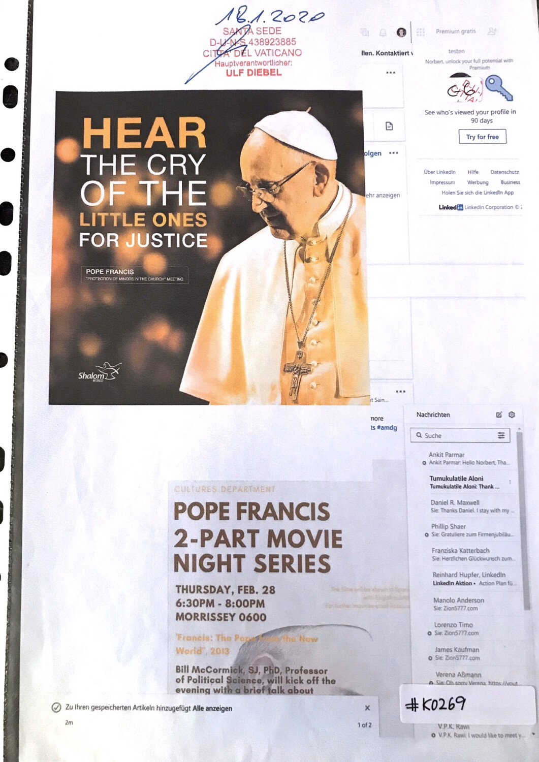 #K0269 l Pope Francis - Hear the cry of the little ones for justice