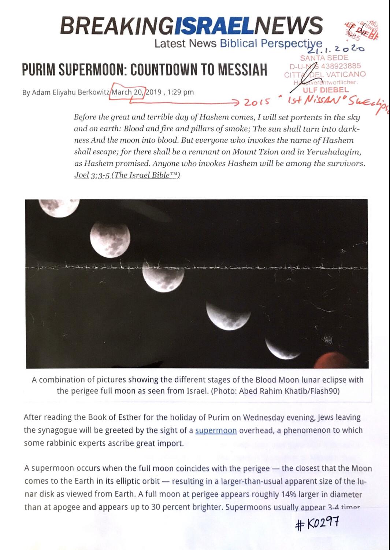 #K0297 l Breaking Israel News - Purim Supermoon: Countdown to Messiah