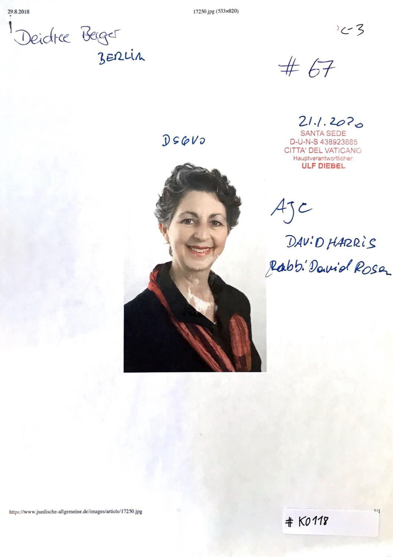 #K0118 l Deidre Berger, David Harris, Rabbi David Rosen l American Jewish Comittee Berlin