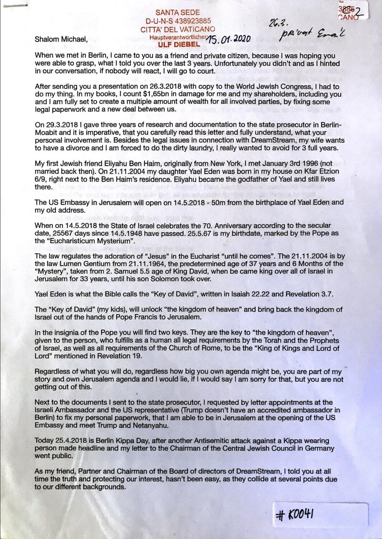 #K0041 l Letter to Michael Jay Solomon