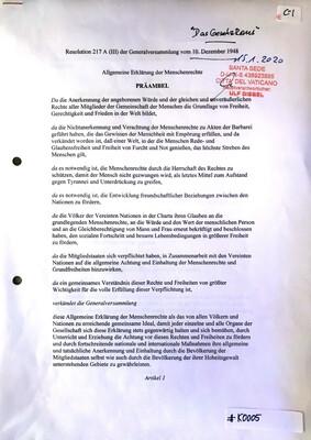 #K0004 l Vorladung der Kreispolizeibehörde Märkischer Kreis