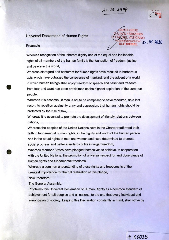 #K0025 l Universal Declaration of Human Rights