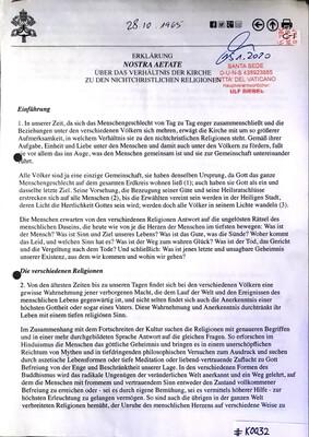 #K0032 l Erklärung Nostra Aetate - Über das Verhältnis der Kirche zu den nichtchristlichen Religionen