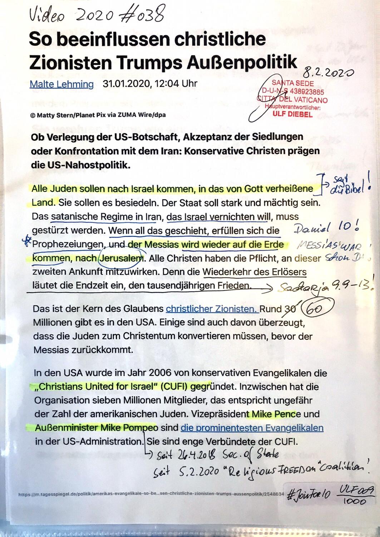 """#U009 l Tagesspiegel - """"So beeinflussen christliche Zionisten Trumps Außenpolitik"""""""