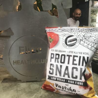 Protein Snack mit Paprika Gemschack