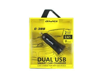 Awei C-300 Dual USB Smar CarCharger