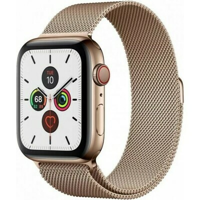 Apple Watch S5 44mm MILANESE LOOP GOLD GPS+CELL