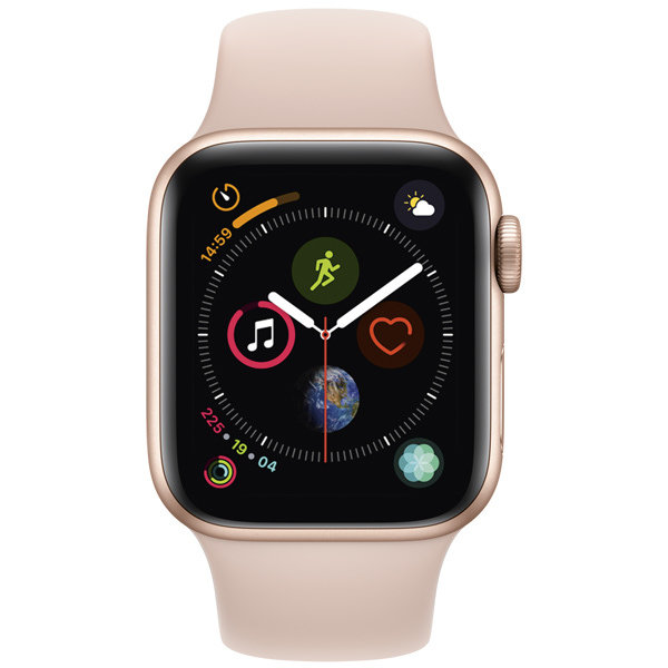 S4 Sport 40mm Gold Al/Pink Sand Sport Band