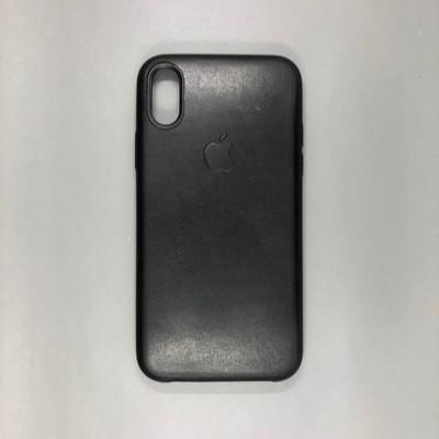 iPhone X Leather Case Black