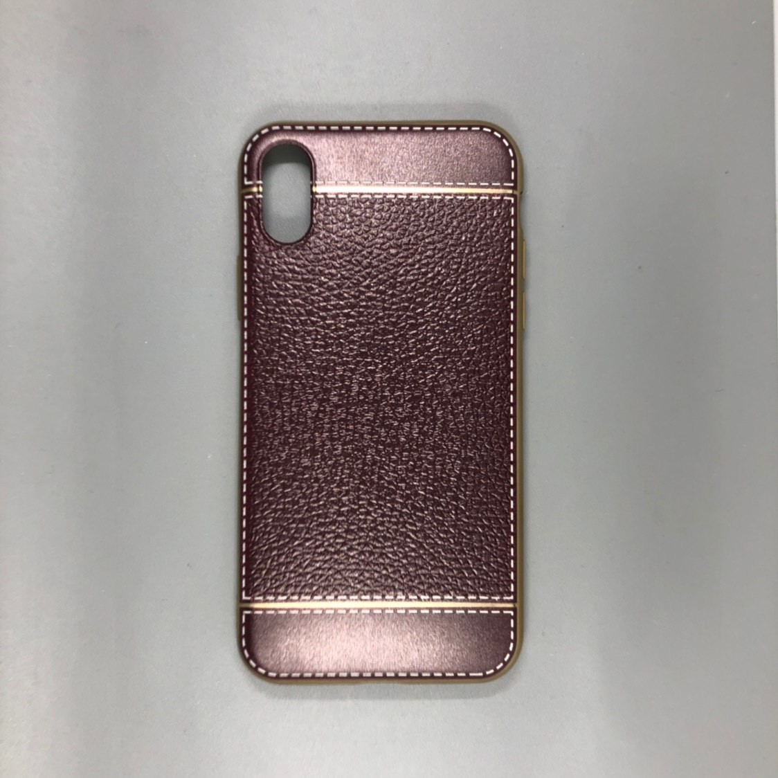 iPhone X Plastic Gold/Violet