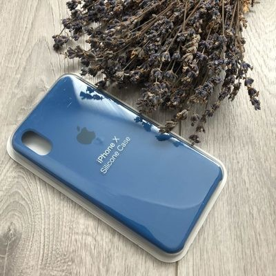 iPhone X Silicone Case (Синий)