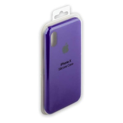 iPhone X Silicone Case (Фиолетовый)
