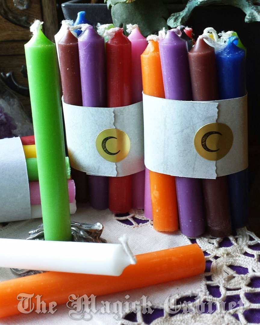 Set of 10 Chime Candles for Rituals and Magic Work, Candle Magic,  Witchcraft Supplies, Meditation, Spiritual Supply