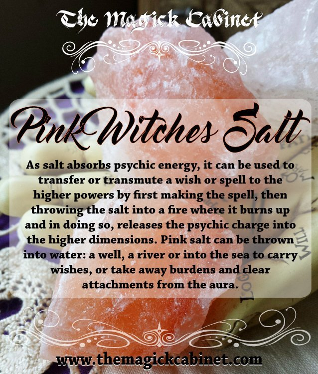 Pink Witches Salt for Purification and Love Spells, Witchcraft Supplies,  Wicca Supply, Herbs for Witches