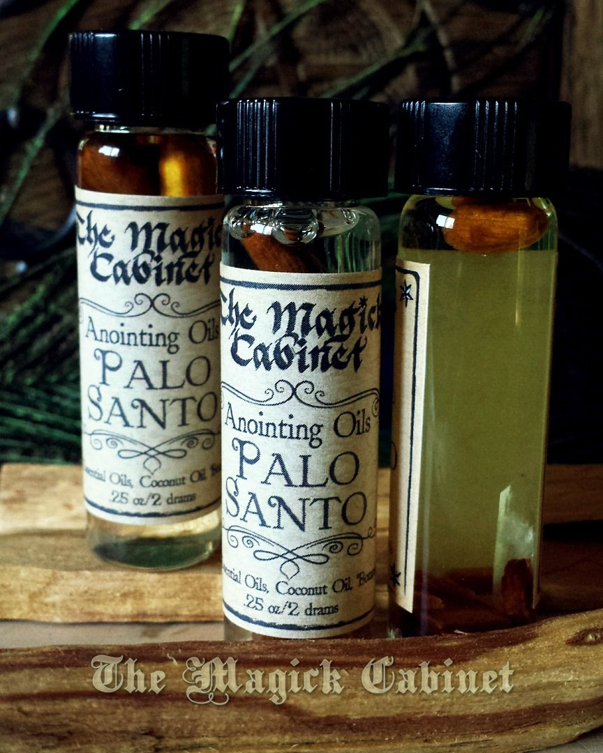 Palo Santo Oil, Holy Wood Oil for Clearing, Good Fortune and Purification   Liquid Incense and Anointing oil