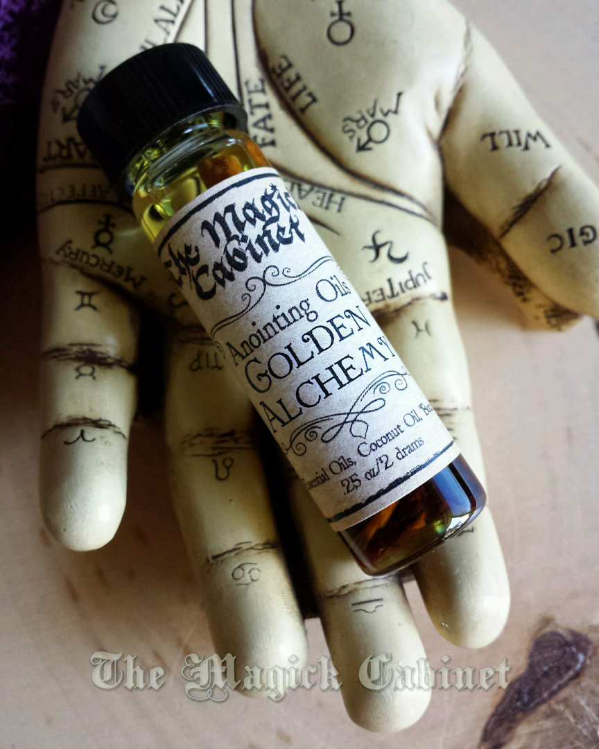 Golden Alchemy - Fast Money Oil for Quick Money spells, Success and Good  Luck for Gamblers, Apothecary Anointing Oil for Witchcraft and Wicca Rituals