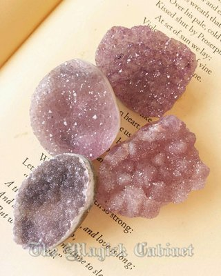 Amethyst Druzy Medallions for Peace, Psychic Powers and Inspiration,  Healing Crystals and Stones, Witch Crystals, Metaphysical Crystals
